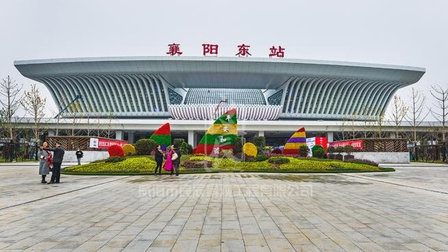 襄阳东站仿真绿雕项目