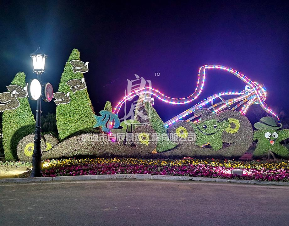青岛啤酒节五色草造型